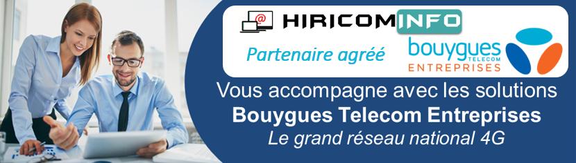 Banner revendeur entreprise Bouygues