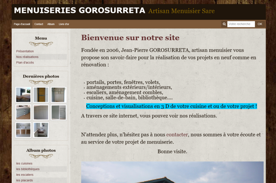 Site menuiserie